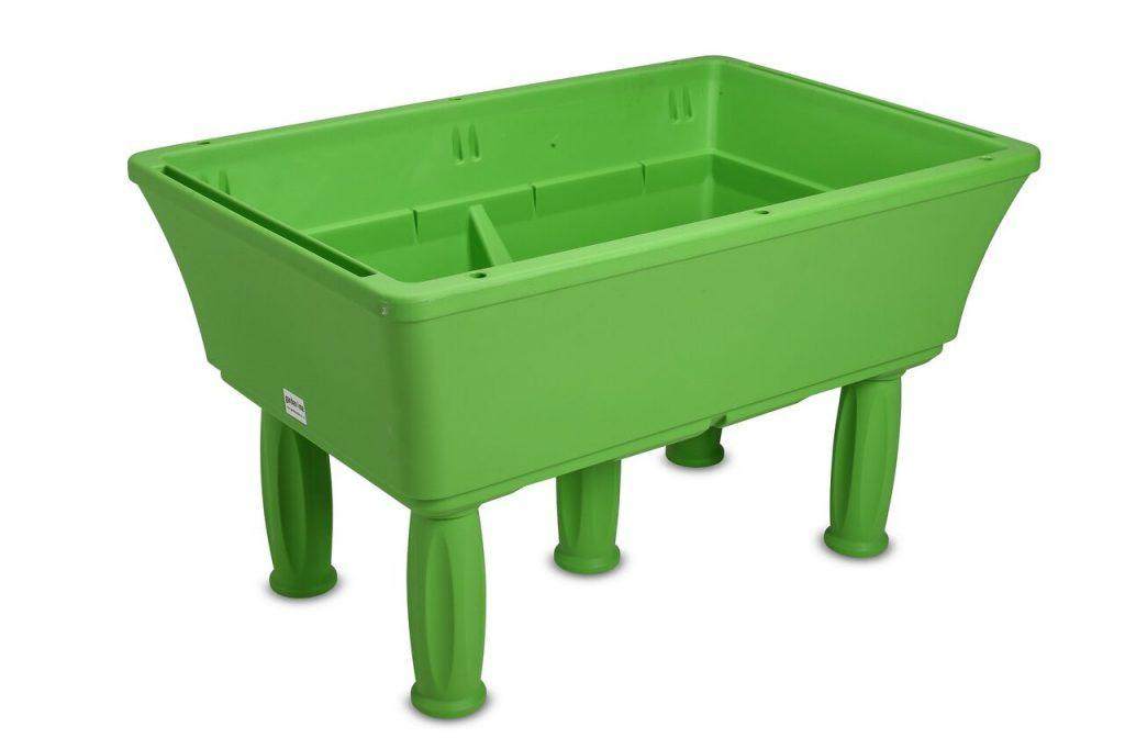 raised planter green