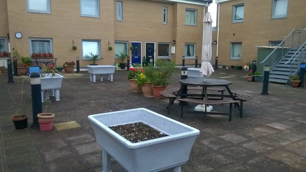 raised planters communal garden