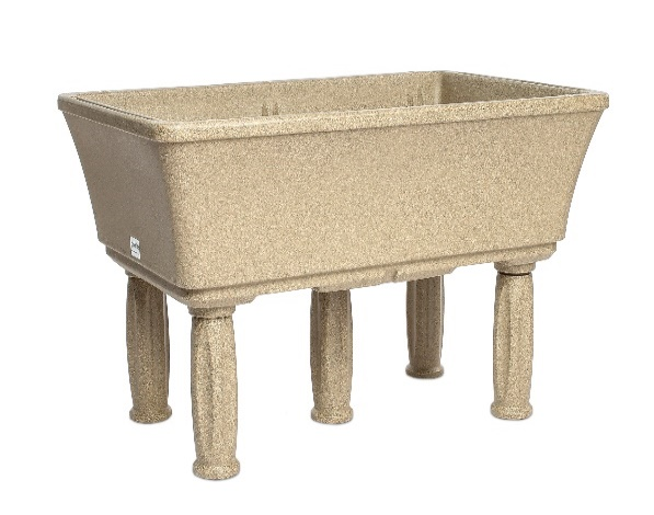 sandstone raised planter